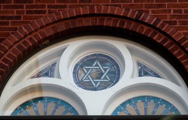 One of three Stars of David at the Central Congregational Church in Newburyport.