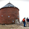 Newburyport:<br /> Michael Minton, left, and Andrew Titcomb of Meridian Associates set up a scanner to record 3-dimensional images of the Powder House behind the Newburyport National Guard Armory on Low Street. The 187 year-old structure  has fallen in disrepair and the images will help with the refurbishing.<br /> Photo by Bryan Eaton/Newburyport Daily News Thursday, February 26, 2009<br /> , Newburyport:<br /> Michael Minton, left, and Andrew Titcomb of Meridian Associates set up a scanner to record 3-dimensional images of the Powder House behind the Newburyport National Guard Armory on Low Street. The 187 year-old structure  has fallen in disrepair and the images will help with the refurbishing.<br /> Photo by Bryan Eaton/Newburyport Daily News Thursday, February 26, 2009