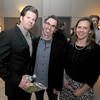 Andre Dubus, EJ Ouellette, and Mimi Sparrow at the Jed Dubus fundraiser at GDA