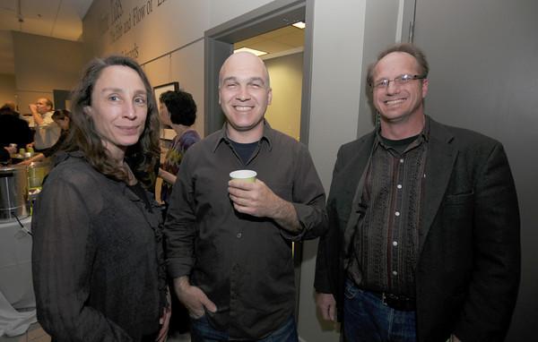 Jenifer Brody, Kai Vlahos and Todd Prussman at the Jeb Dubus fundraiser at GDA