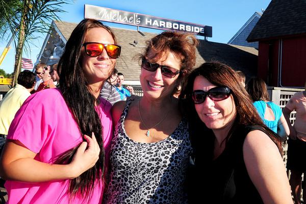 Newburyport: Katy Keohane of Puerto Rico, her mom Linda Graham of West Newbury and Tina Santoro-Smith of Merrimac. Bryan Eaton/Staff Photo