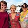 Rebecca Powers of Artisan Dentistry; Cynthia Smith of Bright Star and Christine Jillett, Greater Newburyport Ovarian Cancer Awareness.
