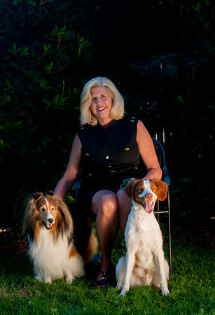 Linda Knight with her dogs Simon and  Ryan