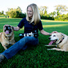 Photographer Dawn Norris with her dogs Honeycomb, on the right and Ruby Lou.