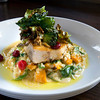 Newburyport: Pan-seared Swordfish with Butternut Squash Risotto. Bryan Eaton/Staff Photo