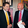 Amesbury: One of the hosts of the event artist Jon Mooers, left, and state Rep. Mike Costello. Bryan Eaton/Staff Photo