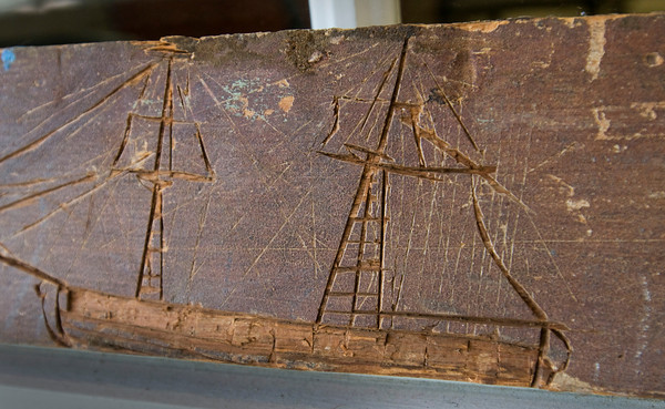 Newburyport: This carving was found in the organ when it was restored, often shipbuilders were involved in other carpentry pursuits. Bryan Eaton/Staff Photo