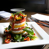 Newburyport: Heirloom Tomato and Fresh Mozzarella Tower. Bryan Eaton/Staff Photo