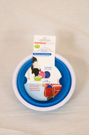 Bamboo Blue Silicone Travel Bowl retail $15.99