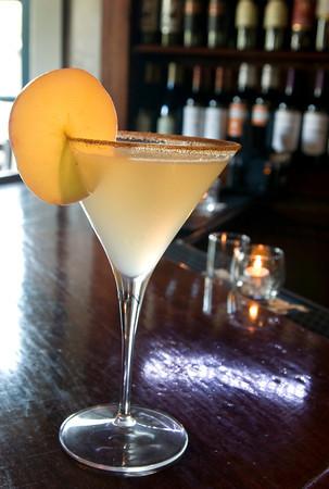 Newburyport: Their new fall Apple Ginger Martini. Bryan Eaton/Staff Photo