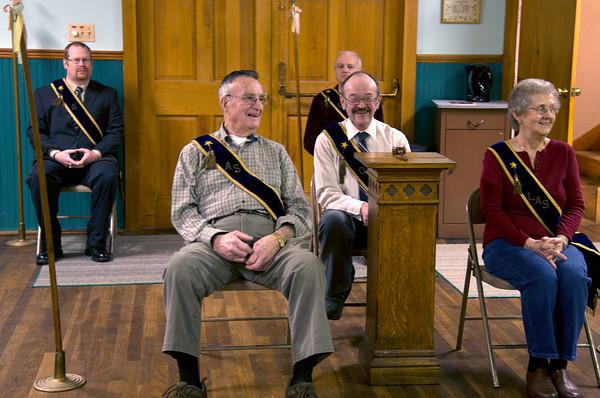 Back row Matt Johnson, Russ Carr, front: Ed Gagnon, Charles Carter and Arlene Gagnon