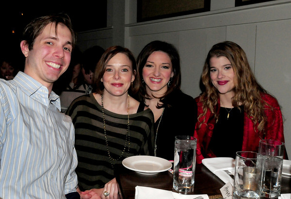 From left, Leif Johnson of Virginia, Daveda Burnett with Smitten, Meghan Bussone and Anna Prescott of Newburyport. Bryan Eaton/Staff Photo