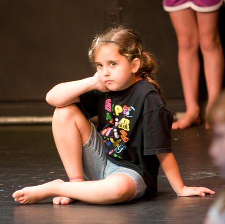 Julia Silva takes a break at the Glee Program the Firehouse .