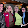 Tami O'Brien of Encompass, Betty LaBaugh of In a Nutshell Marketing, Ann Ormond, Newburyport Chamber of Commerce president and Patti Kae of Alexandria Art. Bryan Eaton/Staff Photo