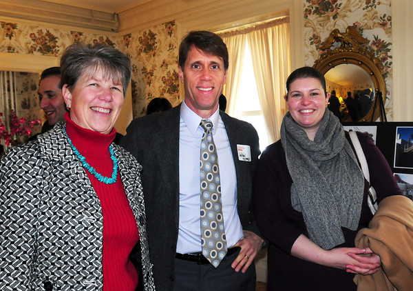 Sarah Holden, YWCA Housing Committee, Andrew Sidford, architect and Ashley Emerson, Department of Housing and Community Development. Bryan Eaton/Staff Photo