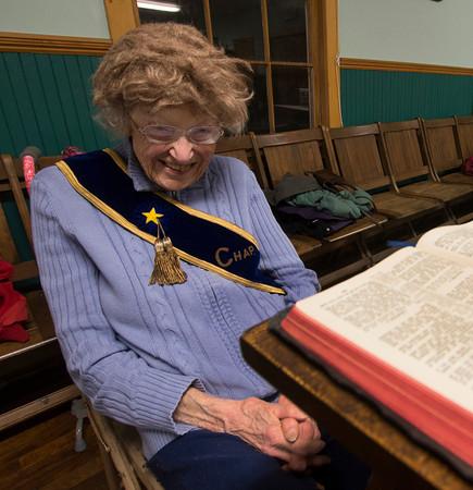Laurel Grange chaplin of 55 years Bernice Griffin