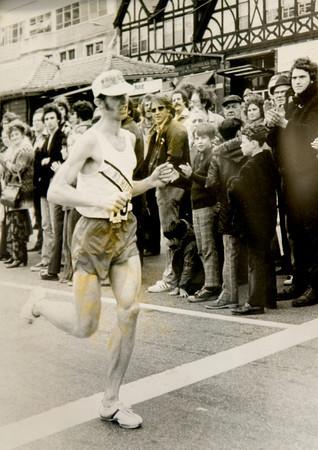Rick Bayko running the 1974 Boston Marathon