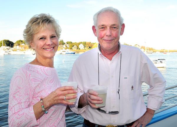 Newburyport: Sue Gorham of Nahant and Bob Nolan of the Clark Currier Inn. Bryan Eaton/Staff Photo
