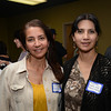 Mariela Burga and Maricela Loring of Home and Planet Cleaning at the Chamber of Commerce mixer at the Newburyport Brewery .