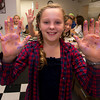 Aquinnah Wehrwein, 9,at a party at Eat Cake in Newburyport.