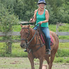 JIM VAIKNORAS/Staff photo Ellen Rukowicz during a class at Stage Hill Farm in Newbury.