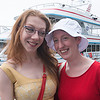 JIM VAIKNORAS/Staff photo Kayla McKenna as Ginger and her sister Kendra as Gilligan both of Merrimac, at The Gilligan's Island Costume Fundraiser Cruise Hosted by The Actors Studio of Newburyport on teh Newburyport Waterfront.