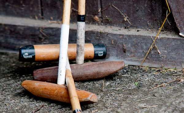 JIM VAIKNORAS/Staff photo Polo Mallets at Stage Hill Farm in Newbury.
