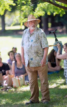 JIM VAIKNORAS/Staff photo  Paul Wann as Oberon in the Theater in the Open production of A Midsummer Night's Dream at Maudslay State Park.
