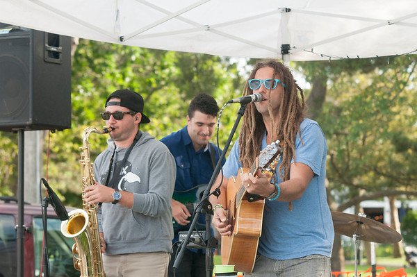 JIM VAIKNORAS/Staff photo Freevolt performs at the Yankee Homecoming Brewfest.