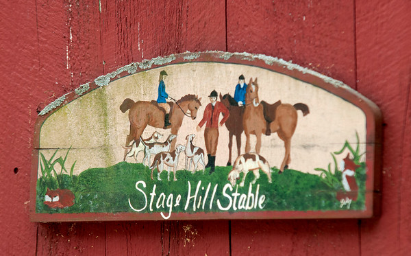 JIM VAIKNORAS/Staff photo Sign at Stage Hill Farm in Newbury.