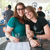 JIM VAIKNORAS/Staff photo Alyssa Robins and Samantha Bartlett of Ipswich at the Yankee Homecoming Brewfest.