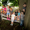 JIM VAIKNORAS/Staff photo Little Farmers pose for a photo at the Spencer-Peirce-Little farm in Newbury from the left: Eleanor Remignanti, Katie Romie-Clemenzi, Rose Hammond, Griffin Dardinski, Lilly Seabolt, Jaxon Palladino, Logan Sansone, Dylan McCormick,and Bodhi Brown.