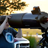 JIM VAIKNORAS/Staff photo President Mike Deneen sets up his 10 inch reflector telescope at North Shore Amateur Astronomy Club (NSAAC) star party at Salisbury Beach Reservation.