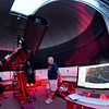 JIM VAIKNORAS/Staff photo Brewster LaMacchia of the North Shore Amateur Astronomy Club leads a weekly free program at the Optical Guidance Systems 20-inch Ritchey-Cretien reflector at Merrimack College.