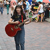 JIM VAIKNORAS/Staff photo Annabelle Lord-Patey of Beverly performs on Inn Street in Newburyport.