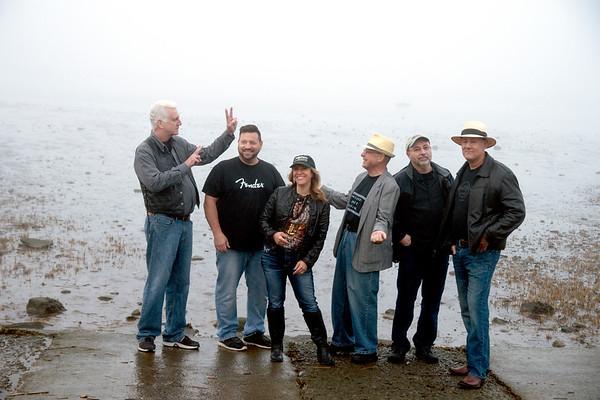 JIM VAIKNORAS/Staff photo The Joppa Flatts:Jason Murley,Craig Macdonald,Ellen Katz,  Douglas Plant and Chris Santarelli at Joppa Flats in Newburyport