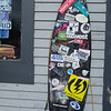 JIM VAIKNORAS/Staff photo Board covered in stickers at Zapstix in Seabrook.