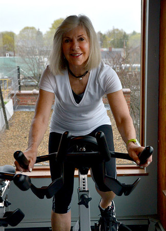 JIM VAIKNORAS/Staff photo Nancy McCarthy at Natural High Fitness in Newburyport.