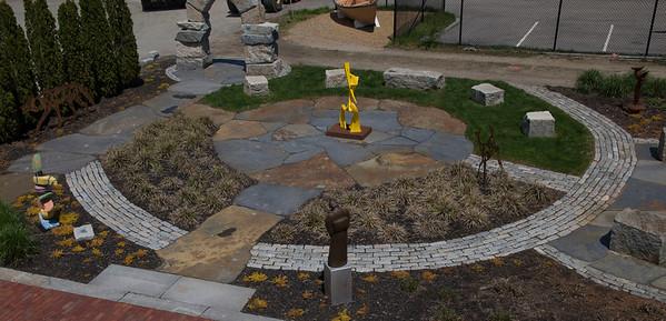 JIM VAIKNORAS/Staff photo The Sculpture Garden at the Newburyport Art Association .