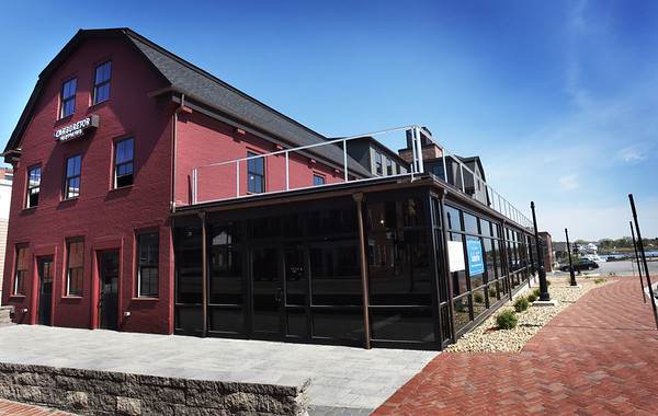 BRYAN EATON/Staff photo. The Alehouse, which is scheduled to open late-summer or fall, will have a rooptop deck to view the Merrimack River.
