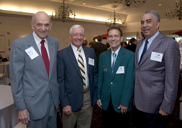 JIM VAIKNORAS/Staff photo Byron Matthews, Charlie Cullen, Russell Hussey, and Frank Cousns at the Greater Newburyport Chamber of Commerce meeting at the Black Swam in Georgetown.