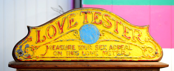 JIM VAIKNORAS/Staff photo Trying out the Love Tester has always been a must stop on any date night at Salisbury Beach.