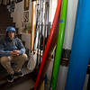 JIM VAIKNORAS/Staff photo Owner Mike Paugh at Zapstix Surf Shop in Seabrook.