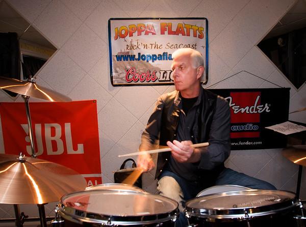JIM VAIKNORAS/Staff photo The Joppa Flatts drummer Jason Manley rehearses in Rowley.