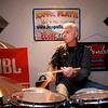 JIM VAIKNORAS/Staff photo The Joppa Flatts drummer Jason Manley rehearses in Rowley.