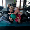 JIM VAIKNORAS/Staff photo Lydi and Wil Dehollander work with Nancy McCarthy at Natural High Fitness in Newburyport.