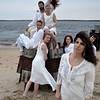 JIM VAIKNORAS/Staff photo Fontaine Dubus stands in front of the Exit Dance Company at Plum Island Point.