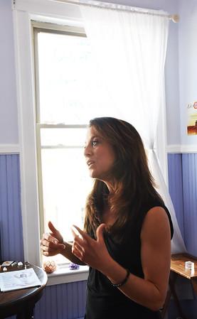 BRYAN EATON/Staff photo. Ariana M. Bahret, a certified LifeLine practitioner in her Newburyport studio.