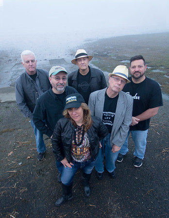 JIM VAIKNORAS/Staff photo The Joppa Flatts: Ellen Katz, Michael Garron, Douglas Plant, Jason Murley, Chris Santarelli ,and Craig Macdonald  at Joppa Flats in Newburyport