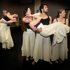 Newburyport: Stephen Haley holding Erin Foley, Wendy Hamel, Ted Speck and Jen Steeves holding Sarah George during the  Exit Dance rehearsal<br /> for their spring production. 2010Jim Vaiknoras/Staff photo